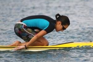 Cynthia Aguilar paddling