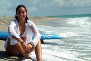 Cynthia Aguilar on Beach