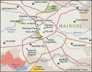 Section Map For Nairobi - Where is nairobi