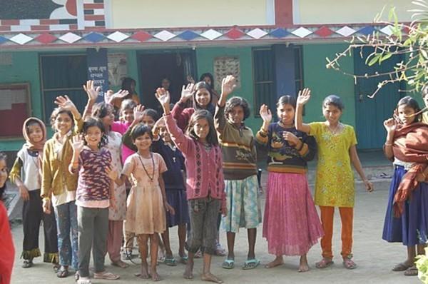 Children in Forbesganj, India