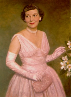 Mamie Eisenhower in Pink