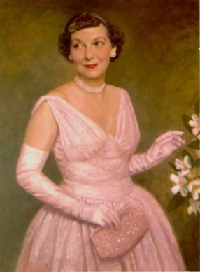 Mamie Eisenhower in Pink