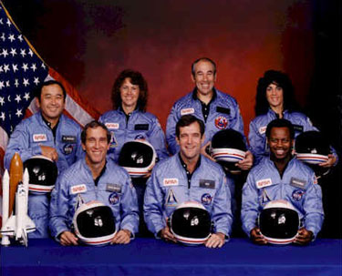 Christa McAuliffe and the Challenger Crew