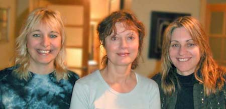 Filmmakers Renee Sotile and Mary Jo Godges with narrator Susan Sarandon
