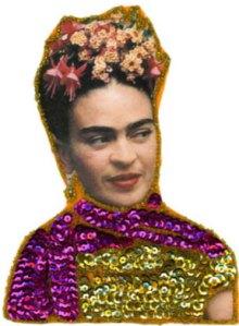 Frida Kahlo image from Nikki Hardin's blog