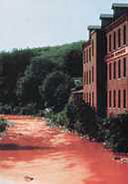 Nashua River when red