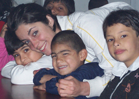 Rebecca Welsh with Children 2004