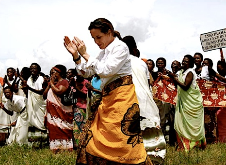 Sarah Brokaw Dancing in Haiti 2010