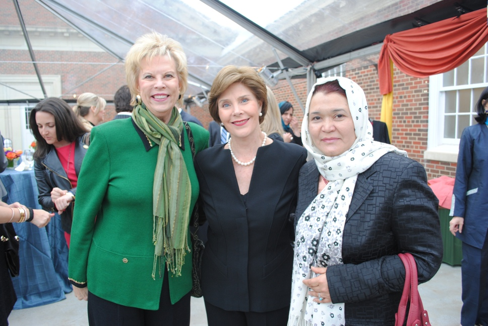 Dr. Terry Neese, Laura Bush, and Dr.Rahela Kaveer
