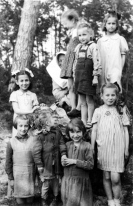 Jewish girls hidden with Polish Orphans from Turkowice, 1944