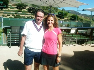 Alissa Finerman and Jimmy Connors