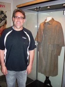 Joe Maddalena with Sherlock Holmes' cloak