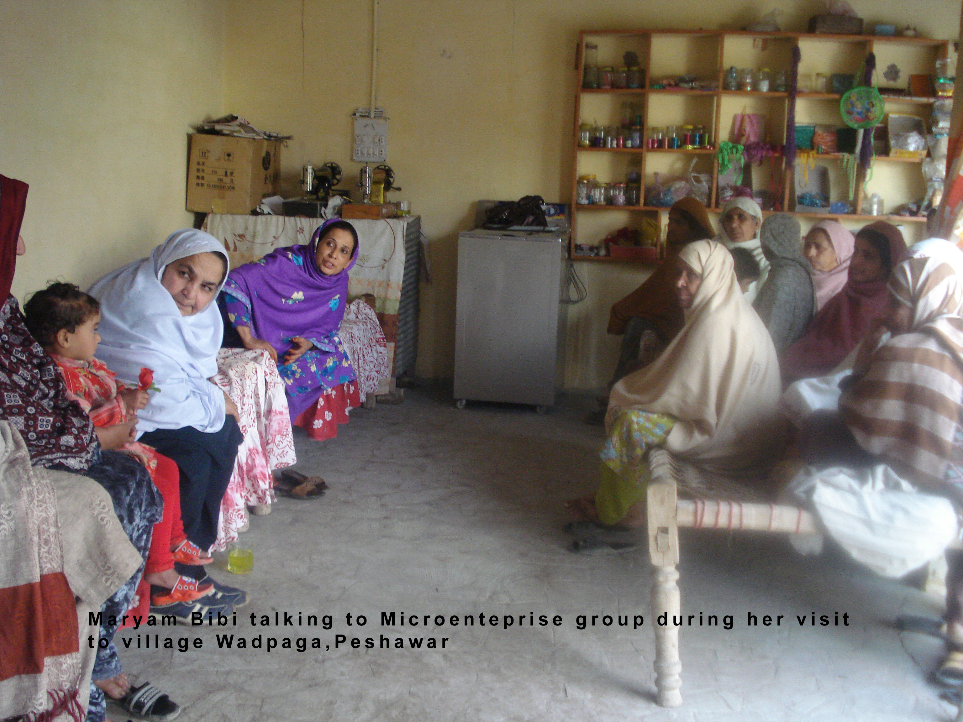 Maryam visits microenterprise group in Wadpaga, Peshawar