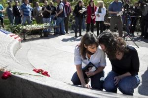 Carie Lemack at the memorial