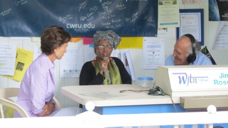 Dr. Hawa, Kati Marton on local radio show