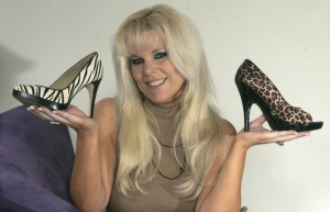 Carole Fleet and stilettos
