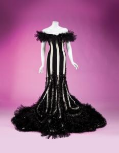 Bette Midler Black and White Dress