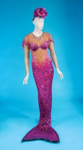 Bette Midler magenta mermaid outfit for auction