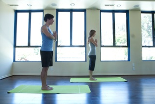 Yoga Class at ESP Wellness for The Women's Eye website